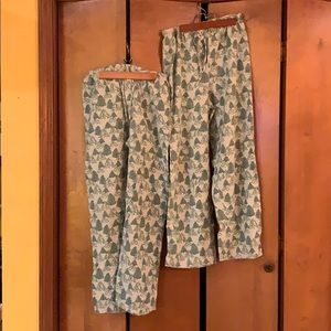 Garnet Hill Mens XS Flannel PJ Bottoms. Two pair.